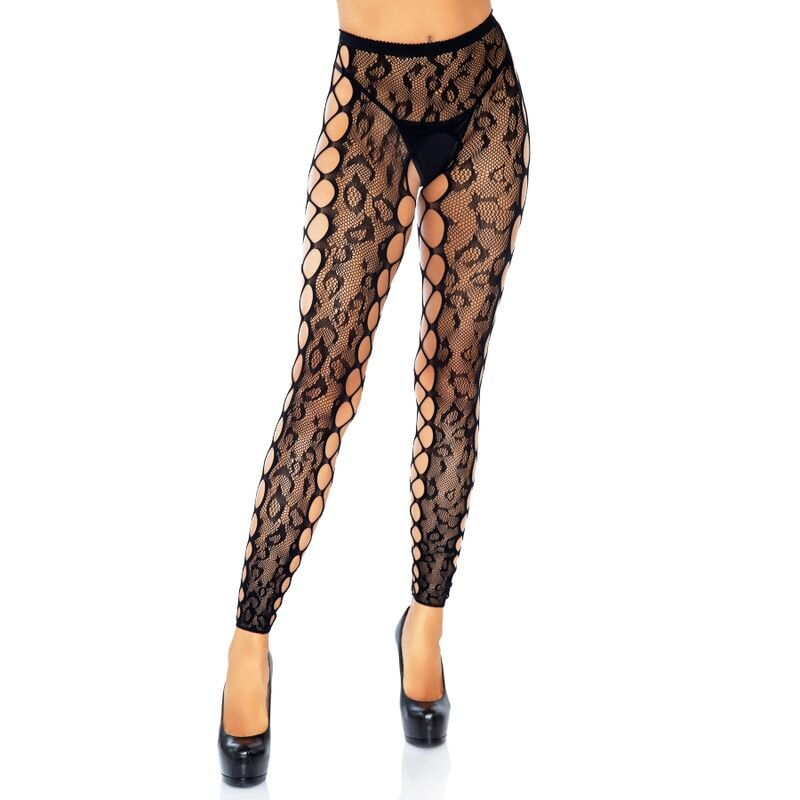 LEG AVENUE FOOTLESS CROTHLESS TIGHTS ONE SIZE