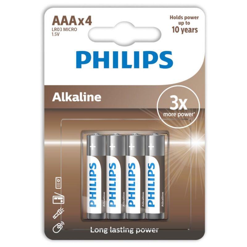 PHILIPS ALKALINE PILA AAA LR03 BLISTER*4