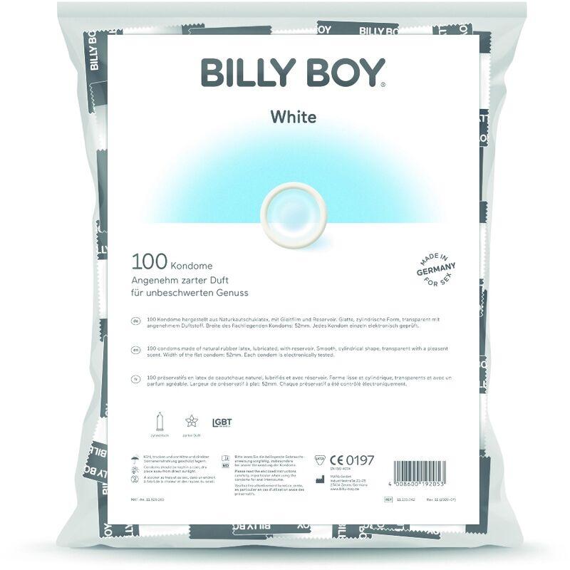 BILLYBOY BOLSA PRESERVATIVOS BLANCOS 100 UNIDADES