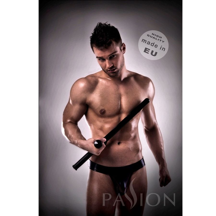JOCKSTRAP BLACK 008 LEATHER PASSSION MEN LINGERIE