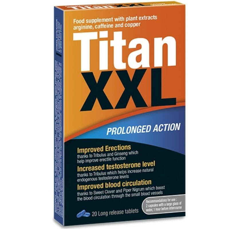 TITAN XXL PROLONGED ACTION 20 CAPSULAS