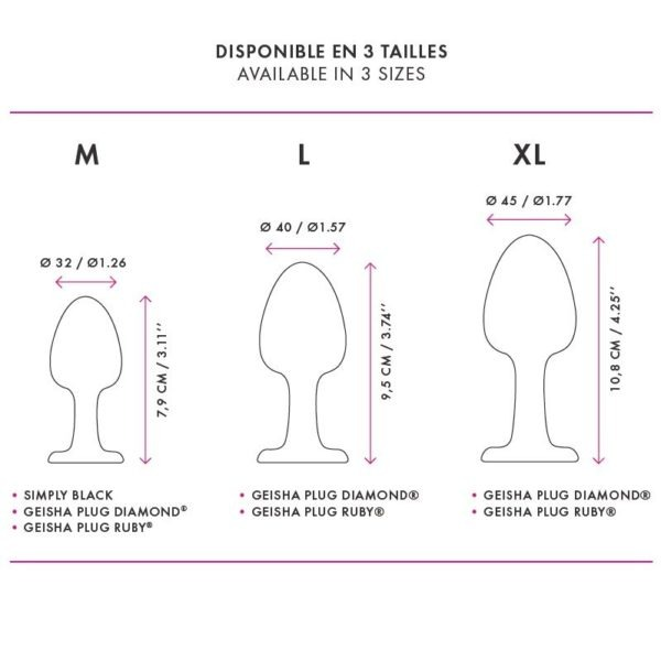 DORCEL PLUG DIAMOND  SILICONA L 9.5CM