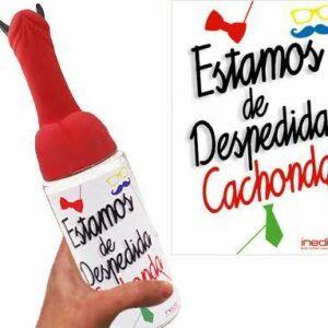 BIBERÓN MEDIANO ESTAMOS DE DESPEDIDA CACHONDA (PENE CUERNOS)