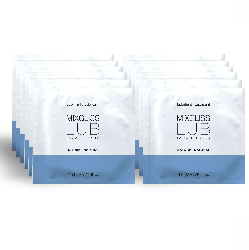 MIXGLISS LUBRICANTE BASE DE AGUA NATURAL 12 MONODOSIS 4ML