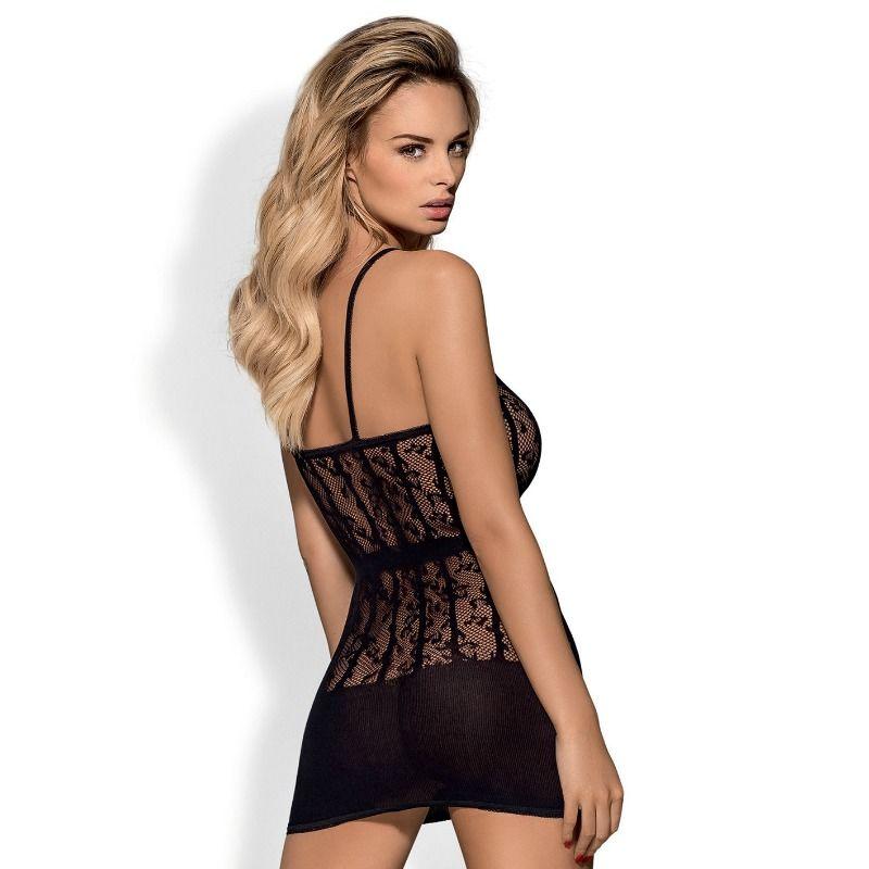 OBSESSIVE D605 DRESS BLACK S/M/L