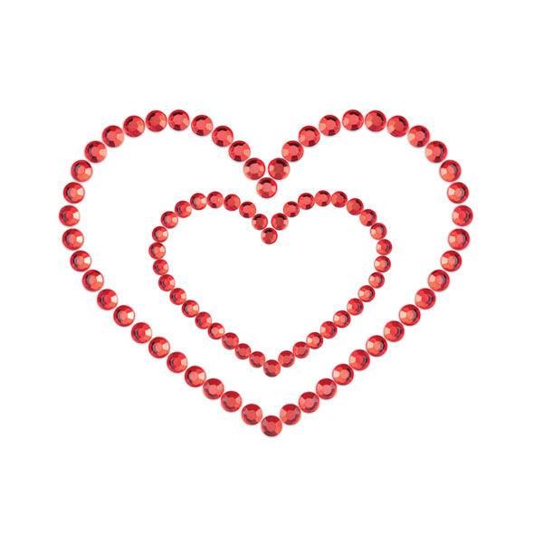 MIMI HEART CUBRE PEZONES ROJO