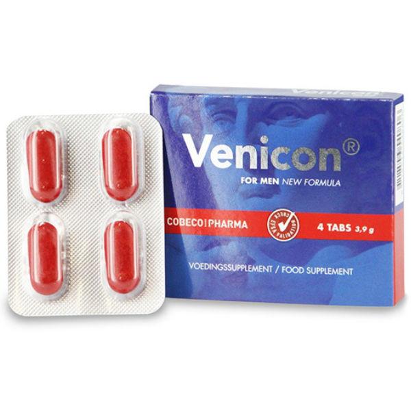 VENICON POTENCIADOR MASCULINO 4 CAPS
