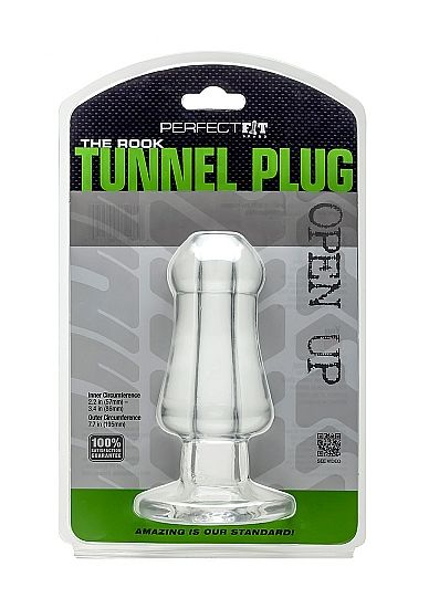 PERFECT FIT THE ROOK TUNEL PLUG TRANSPARENTE