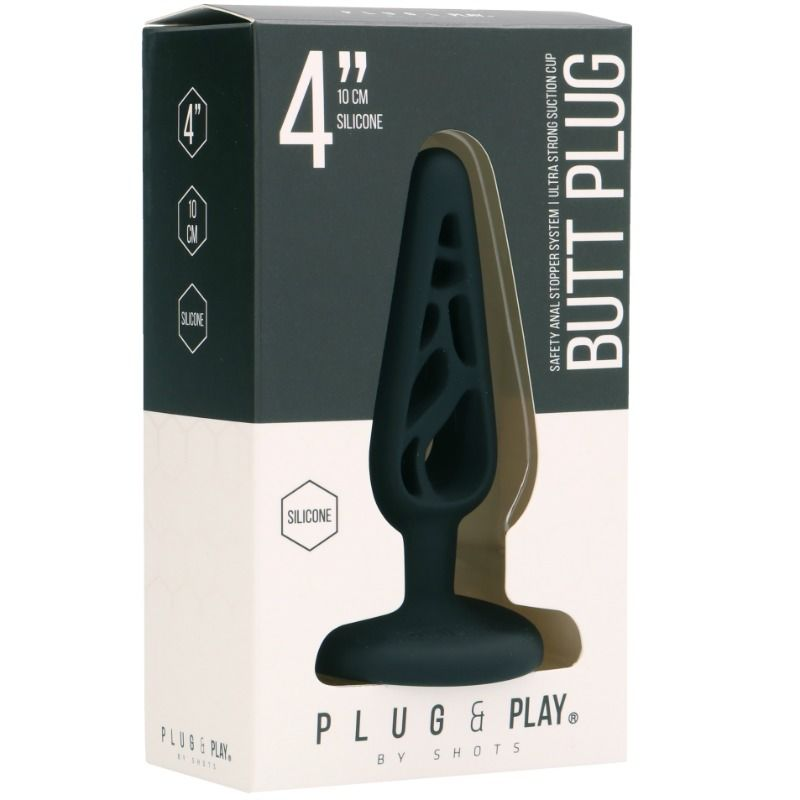 PLUG  PLAY – HOLLOW 3 PLUG ANAL 10 CM – BLACK