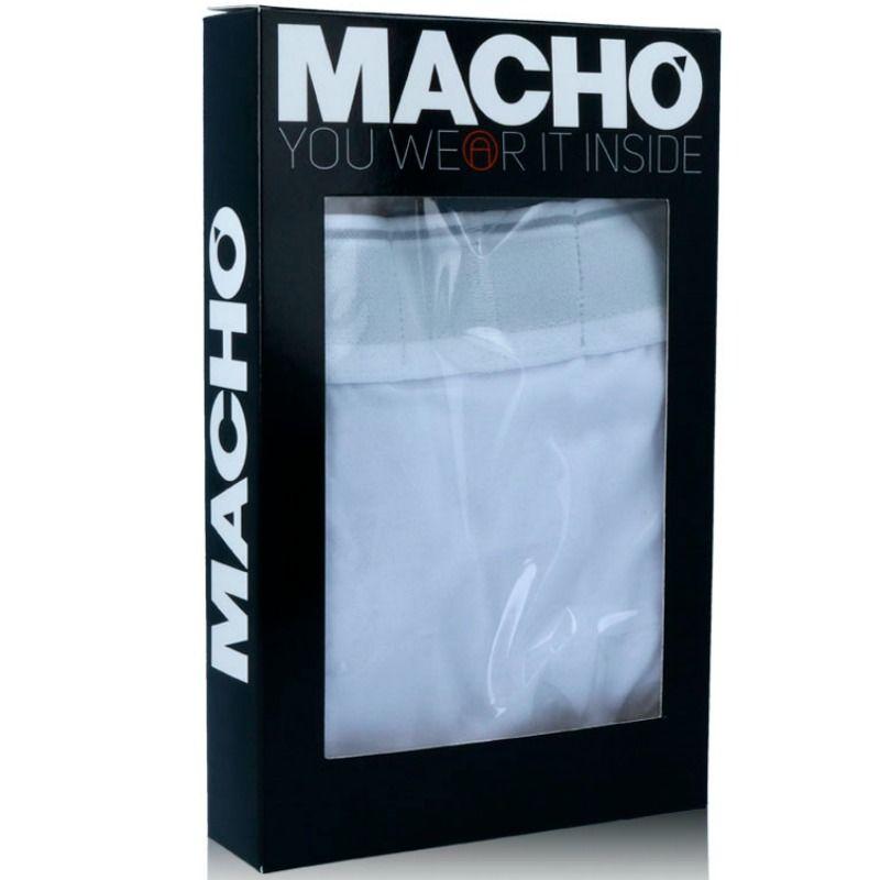 MACHO – MS077 BOXER DEPORTIVO LARGO BLANCO TALLA S
