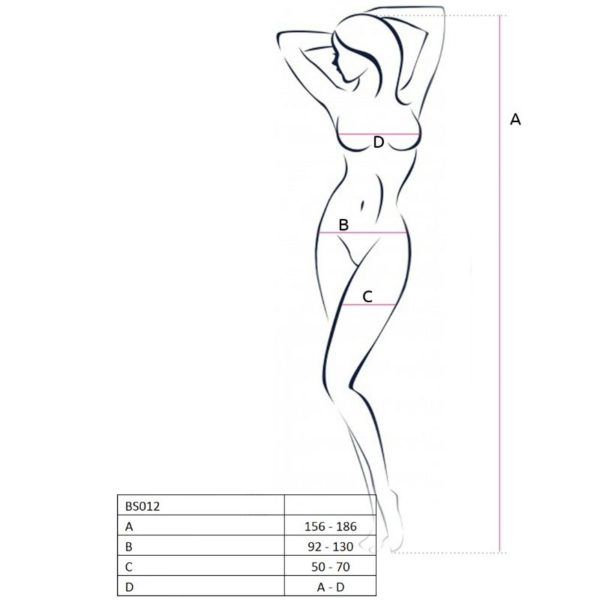 PASSION WOMAN BS012 BODYSTOCKING BLANCO TALLA UNICA