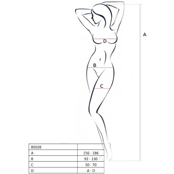 PASSION WOMAN BS028 BODYSTOCKING NEGRO TALLA UNICA