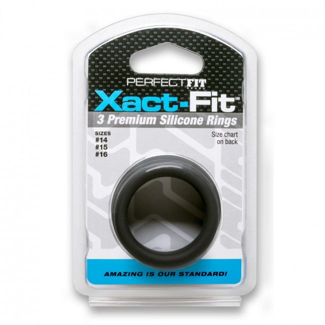 PERFECT FIT XACT FIT KIT 3 ANILLOS DE SILICONA – 3.5 CM, 3.8 CM Y 4 CM