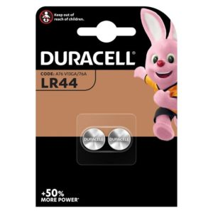 DURACELL PILA BOTON ALCALINA LR44 1,5V BLISTER*2
