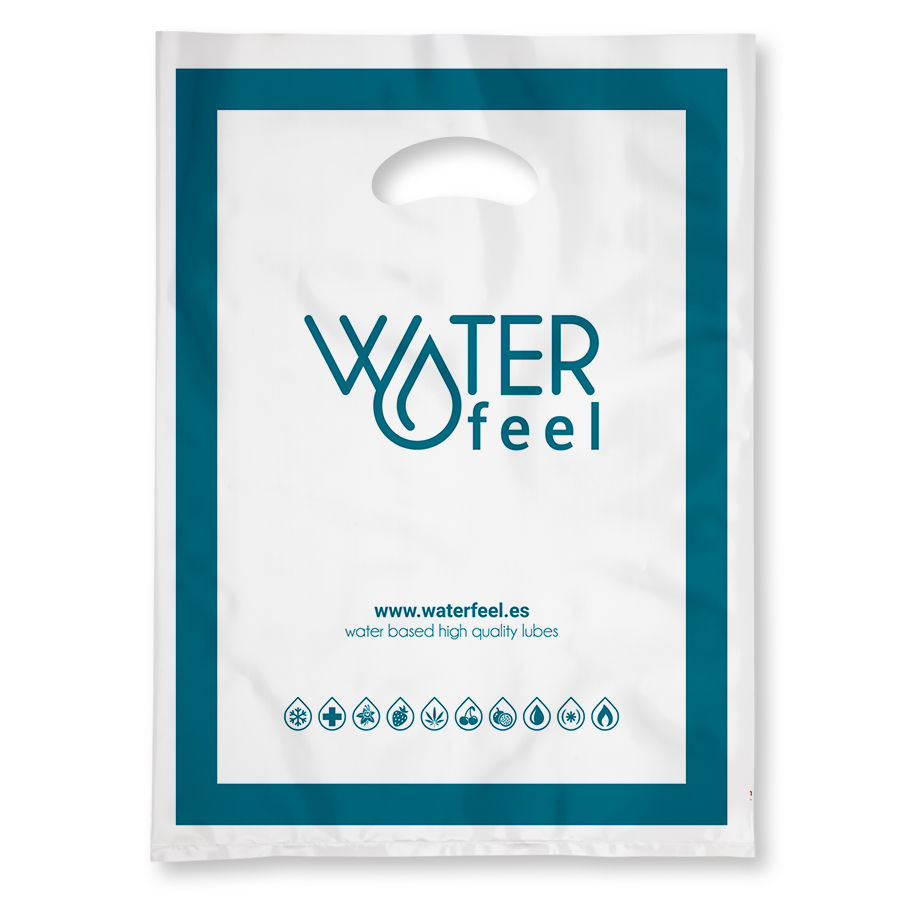 WATERFEEL 100 BOLSAS PLASTICO GRANDES 40 X 50 CM