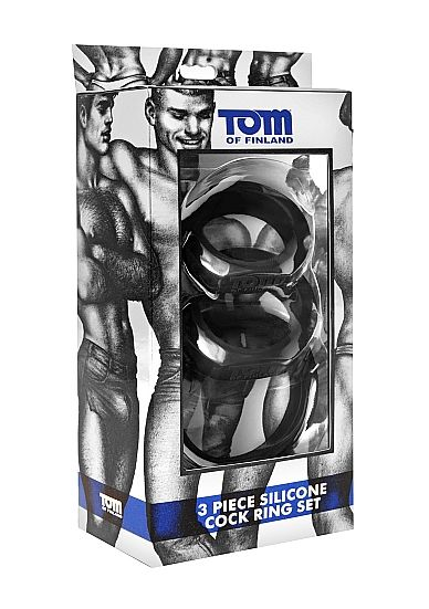 TOM OF FINLAND 3 SET ANILLOS SILICONA
