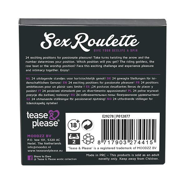 SEX ROULETTE KAMASUTRA (NL-DE-EN-FR-ES-IT-PL-RU-SE-NO)