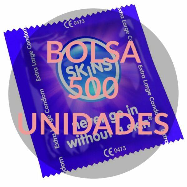 SKINS PRESERVATIVO XXL BOLSA 500 UDS