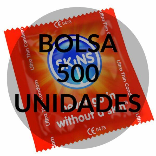 SKINS PRESERVATIVO ULTRA FINO BOLSA 500 UDS