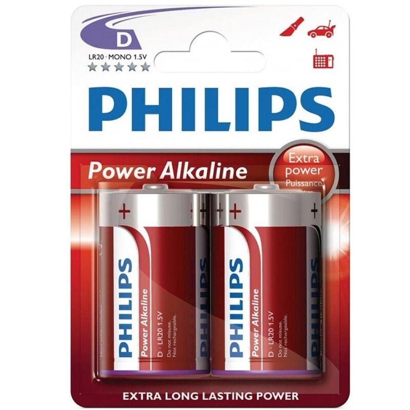 PHILIPS POWER ALKALINE PILA D LR20 BLISTER*2
