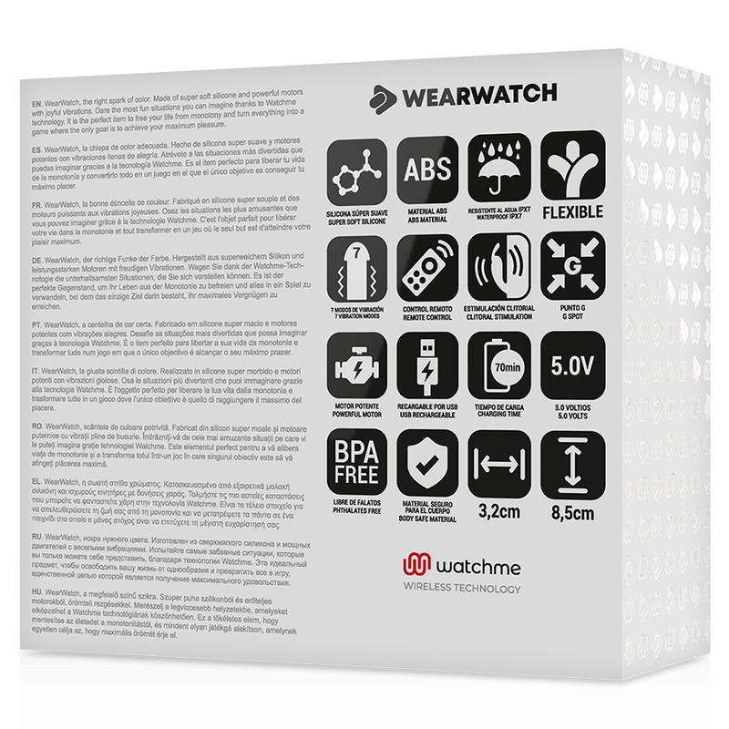 WEARWATCH VIBRADOR DUAL TECHNOLOGY WATCHME FUCSIA / AGUA MARINA