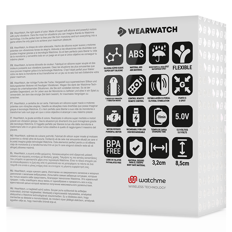 WEARWATCH VIBRADOR DUAL TECHNOLOGY WATCHME FUCSIA / NÍVEO