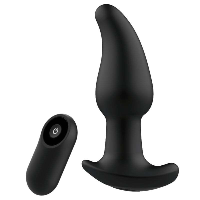 ADDICTED TOYS CONTROL REMOTO PLUG ANAL P-SPOT NEGRO